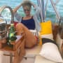 Christie Brinkley Poses on Yacht
