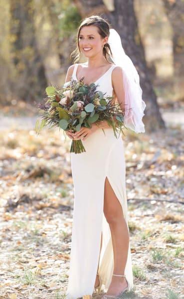 Katie Thurston in a Wedding Dress