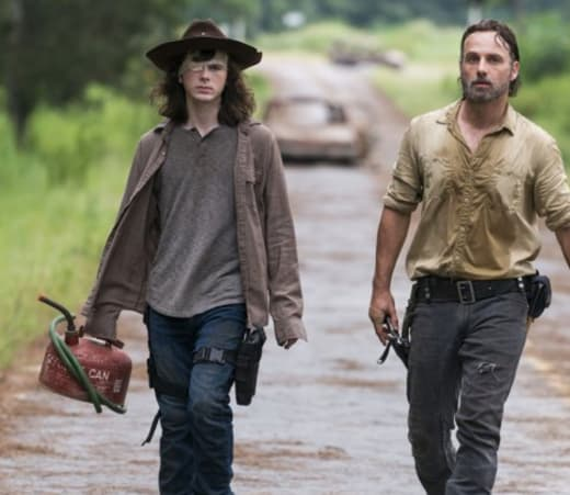 Carl and Rick Grimes