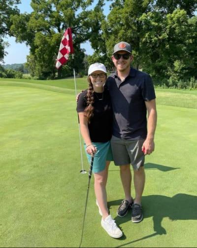 Joy-Anna Golfs In Shorts