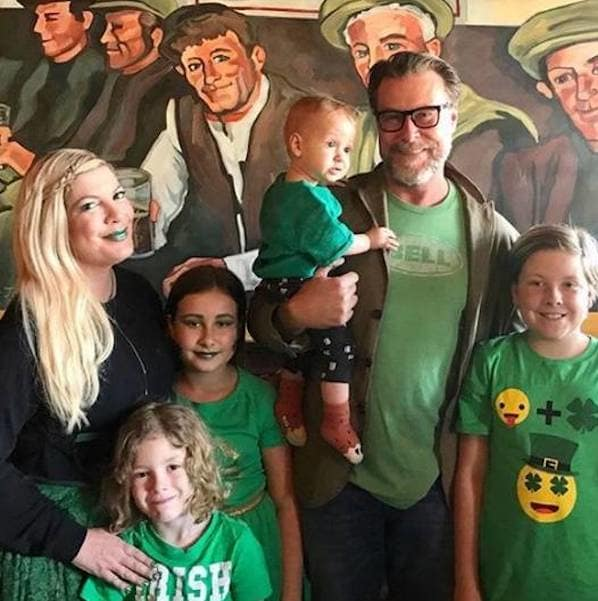 Tori Spelling and Dean McDermott on St. Patrick's Day