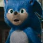 Sonic the hedgehog looks shocked