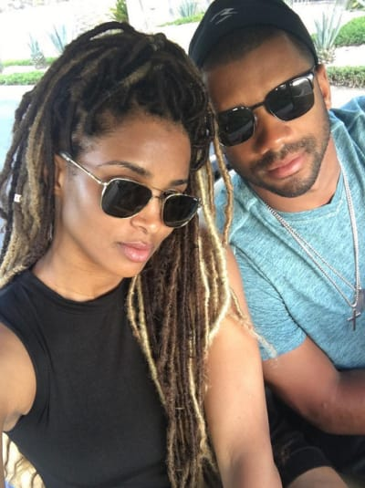 Ciara and Russell Wilson, Shades