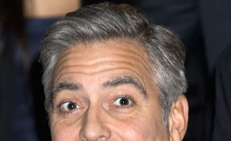 George Clooney Close Up