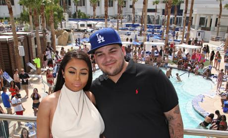 Rob Kardashian, Blac Chyna At Sky Beach Club