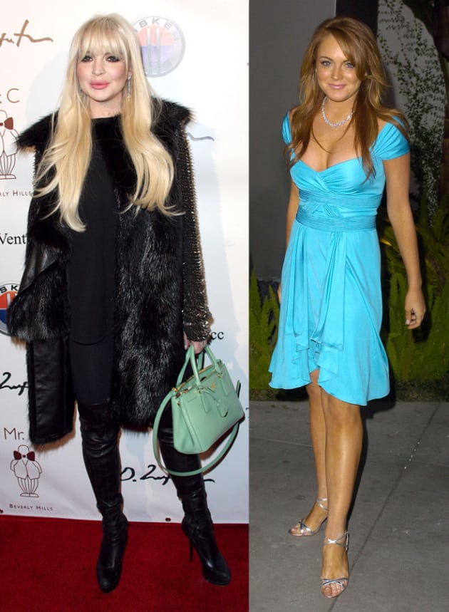 Lindsay Lohan Before and After - The Hollywood Gossip