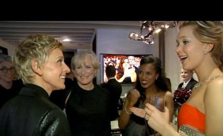Ellen DeGeneres Takes Viewers Behind the Oscars