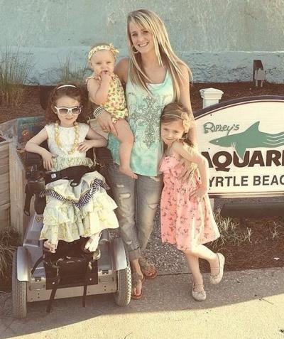 Leah Messer and 3 Daughters