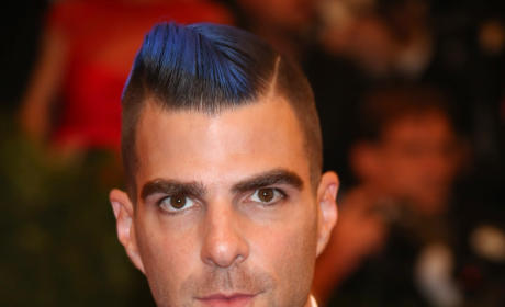Zachary Quinto with blue hair is...