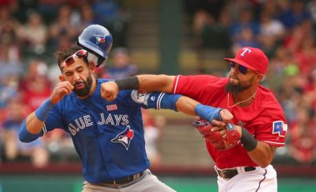 Rougned Odor Punches Jose Bautista in the Face