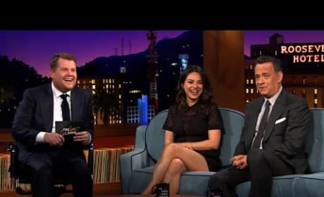 Mila Kunis and Tom Hanks on The Late Late Show with James Corden