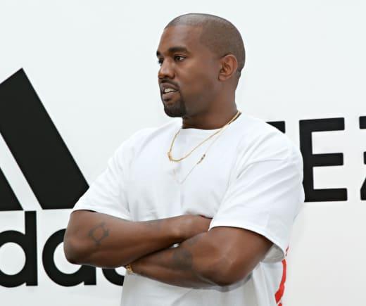 Kanye West at Shoe Event