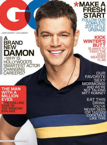 Matt Damon in GQ