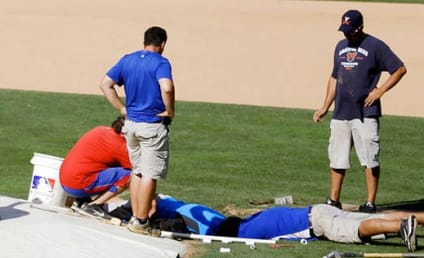 Ballpark Sinkhole Cancels Rangers Batting Practice