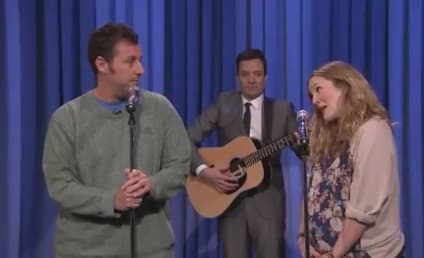 "Adam Sandler, Drew Barrymore Fall in Love ""Every 10 Years"" on The Tonight Show"
