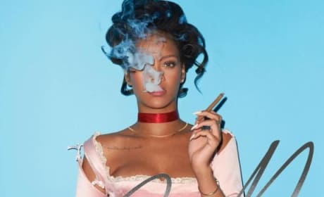 Rihanna Cigar Photo