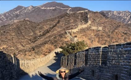 Katy Perry Scales Great Wall of China, Does a Split