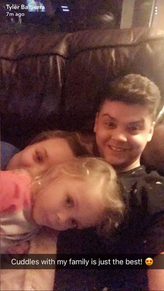 Tyler Baltierra and Catelynn Lowell on Snapchat