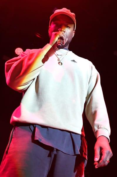 Kanye West on Rap Stage
