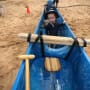 Jackson Roloff in a Canoe