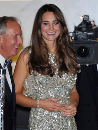 Kate Middleton Smiles on Red Carpet