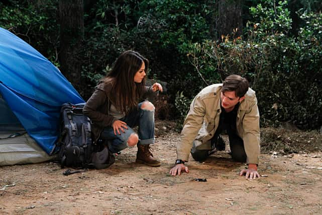 Camping on two and a half men