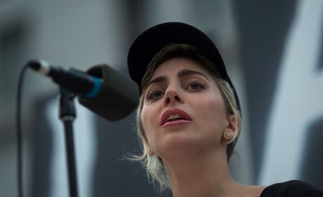 Lady Gaga at Vigil