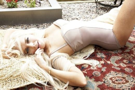 Lindsay Lohan On Her Back