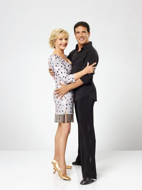 Florence Henderson and Corky Ballas