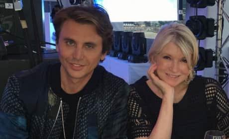 Jonathan Cheban and Martha Stewart in Cannes