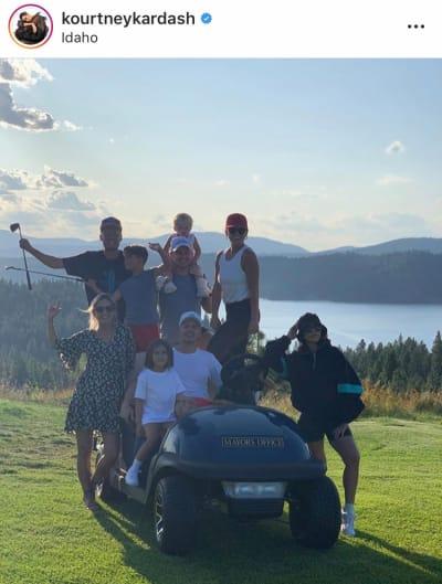 Kourtney Kardashian Golfs in Idaho