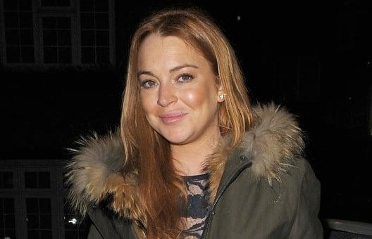 Lindsay Lohan Winter Coat Photo
