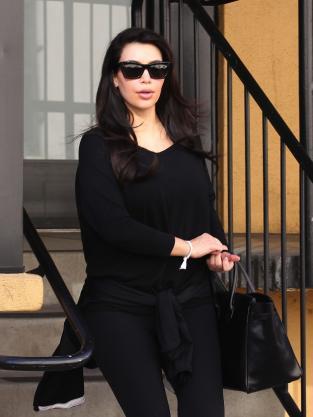 Kim Kardashian in All Black