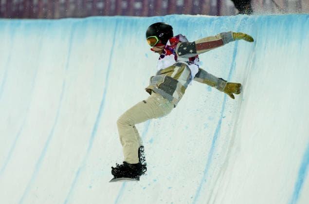Shaun White Fall at Olympics