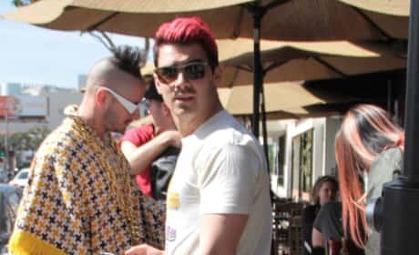 Nick and Joe Jonas Lunch at Kings Road Cafe