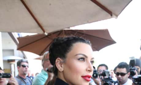 Kim Kardashian with Lipstick