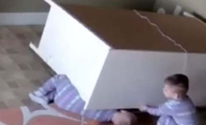 2-Year Old Plays Hero, Lifts Fallen Dresser Off Twin