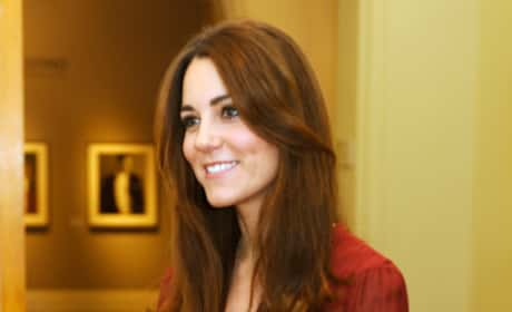 Kate Middleton in a Red Dress
