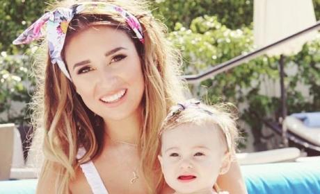 Jessie James Decker Bikini and Baby Selfie
