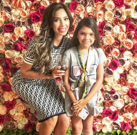 Farrah and Sophia with Flowers