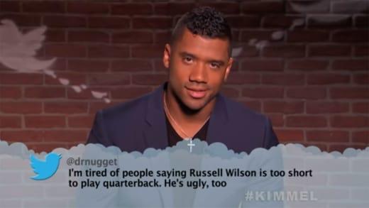 Russell Wilson Reads Mean Tweet