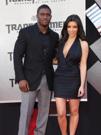 Reggie Bush and Kim Kardashian