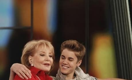 Justin Bieber and Barbara Walters