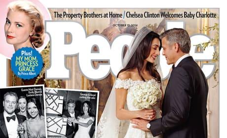 George Clooney and Amal Alamuddin Wedding Photo