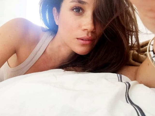 Meghan markle in bed