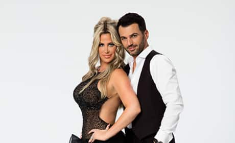 Kim Zolciak and Tony Dovolani