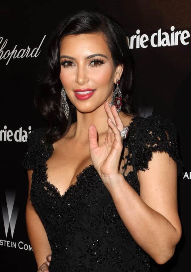 Kim Kardashian in Black