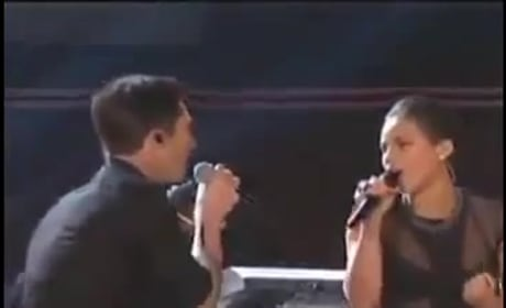 Adam Levine & Alicia Keys Grammy Performance 2013