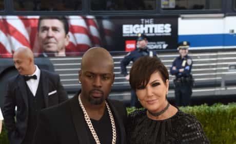 Kris Jenner and Corey Gamble at the MET Gala