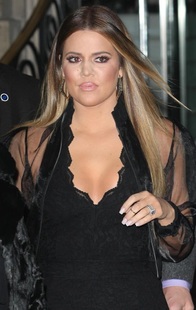 Khloe Kardashian Blonde Highlights